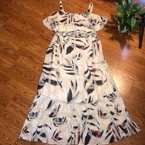 Lane Bryant | white black and red maxi dress